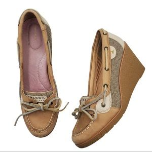 Sperry Topsider Goldfish Wedge Heel Boat Shoes